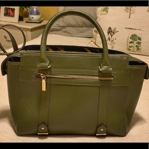 "Ann Klein Olive Tote NWOT Never Used 12""LX10""HX4""D"